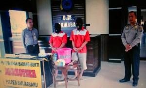 Polres Banjarbaru Musnahan 33,84 Gram Shabu Dan 57 Butir Pil Inek