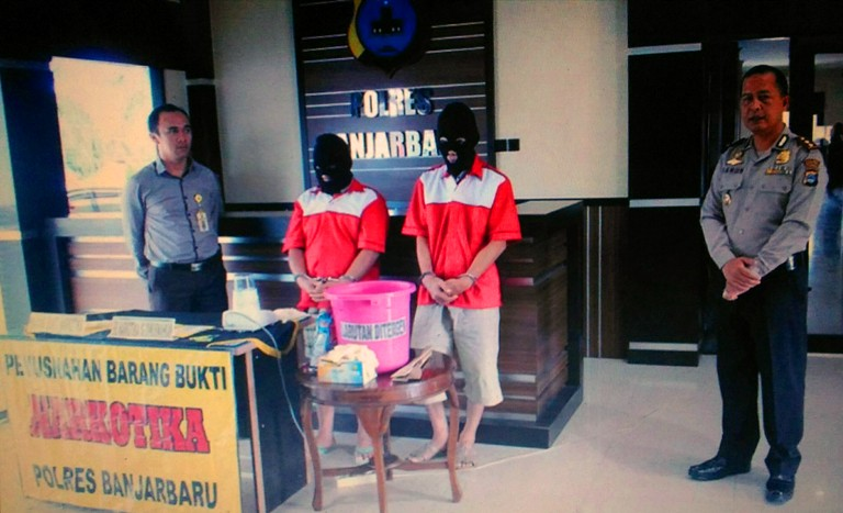 Polres Banjarbaru, Musnahan 33,84 Gram Shabu Dan 57 Butir Pil Inek