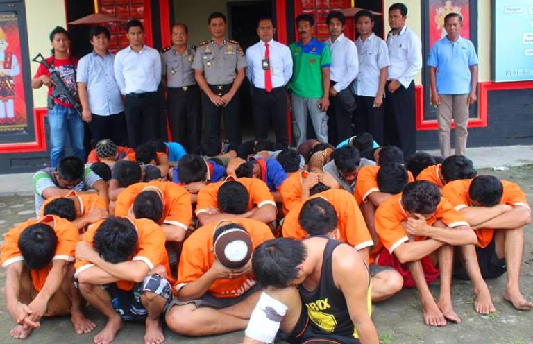 Polres Lampung Tengah Tangkap 49 Tersangka Pelaku Tindak Pidana