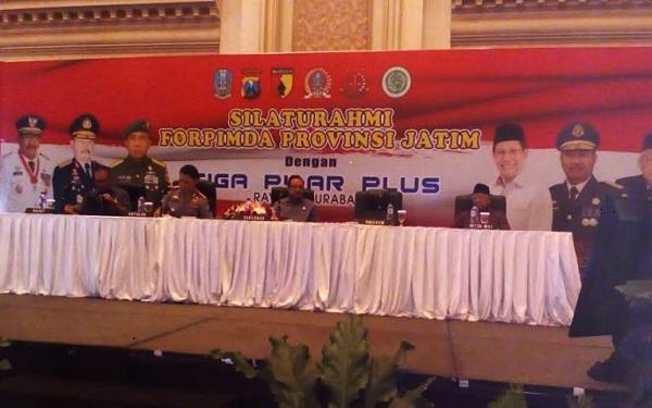Polda Jatim Menggelar Acara Silaturahmi Dengan Forpimda Dan 3 Pilar Plus