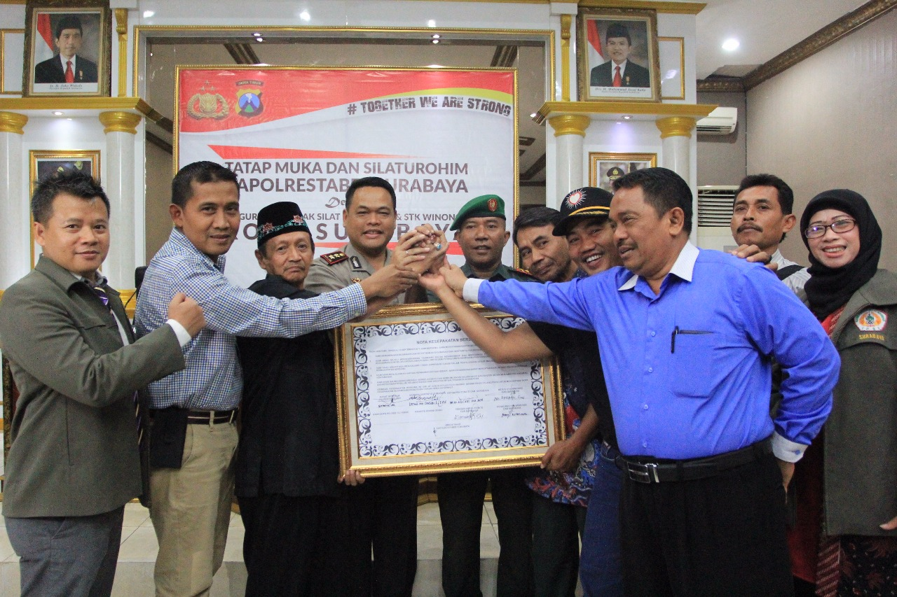 Polrestabes Surabaya Gelar Acara Silaturahmi Dengan Pengurus Pencak Silat