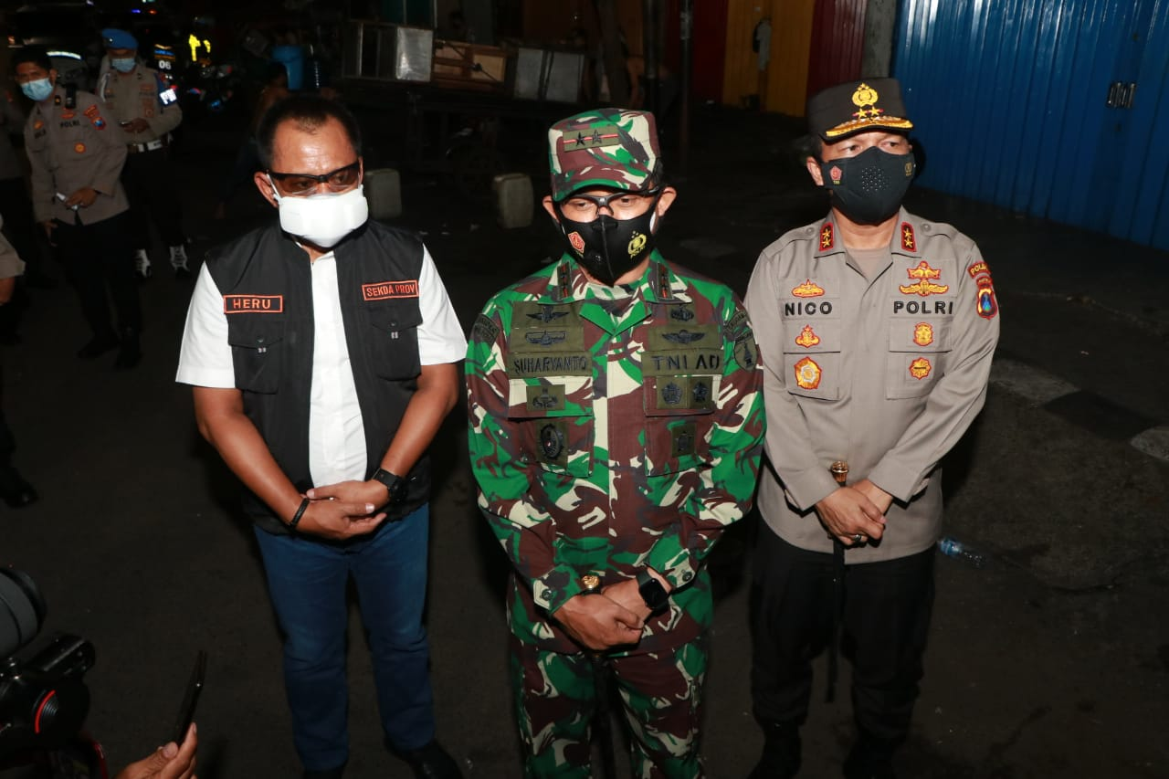 Menjelang Pemberlakuan PPKM Darurat Forkompimda Sosilisasikan Kemasyarakat Jatim.
